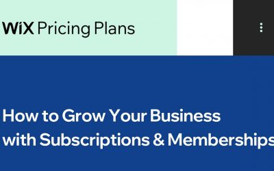 Do It Yourself – Tutorials – How to Grow Your Business with Subscriptions & Memberships | Wix.com