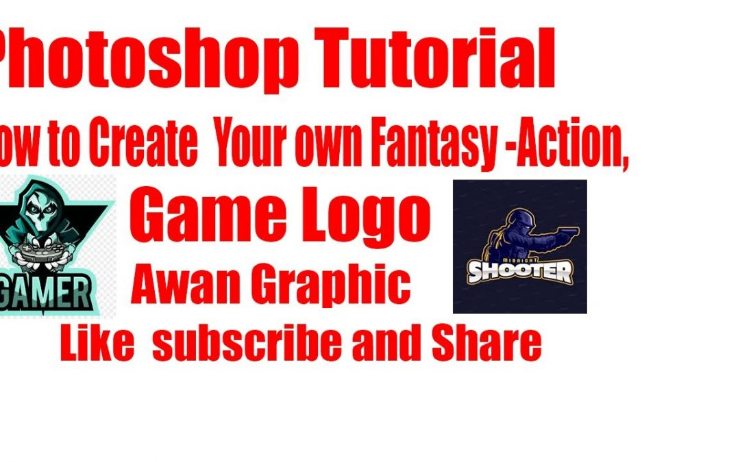 How to create your own fantasy -action video game logo (Photoshop Tutorial)