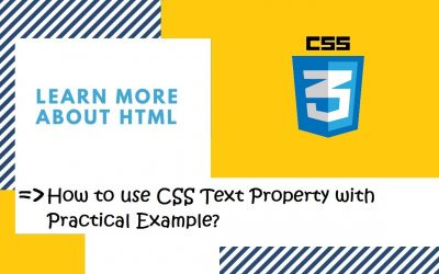 Do It Yourself – Tutorials – Introduction to CSS | 26. How to use different types of CSS Text Property? | CSS in Hindi