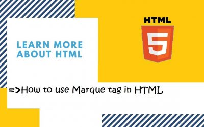 Do It Yourself – Tutorials – Introduction to HTML | 22. How to use Marquee tag in HTML? | HTML in Hindi