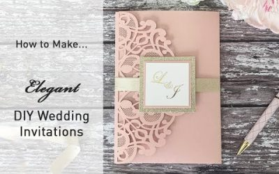 Do It Yourself – Tutorials – Make Your Own Wedding Invitations – Elegant Wedding Invitations To Make At Home –