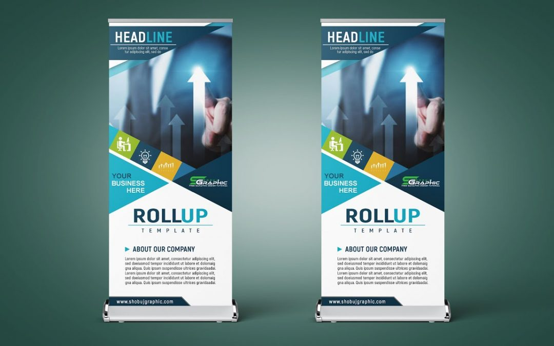 Professional Roll Up Banner Design Photoshop cc Tutorial