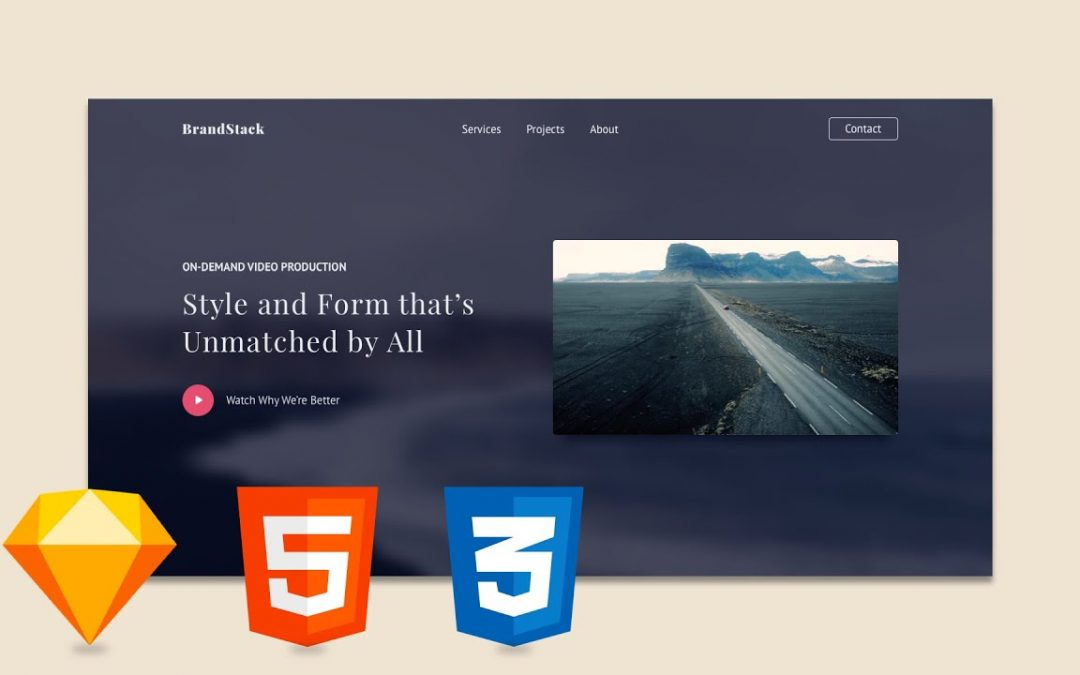 Sketch Tutorial: HTML and CSS Website Design Course