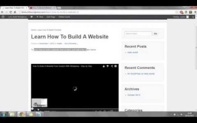 Do It Yourself – Tutorials – Step by Step Video Tutorial – Build your Own Website