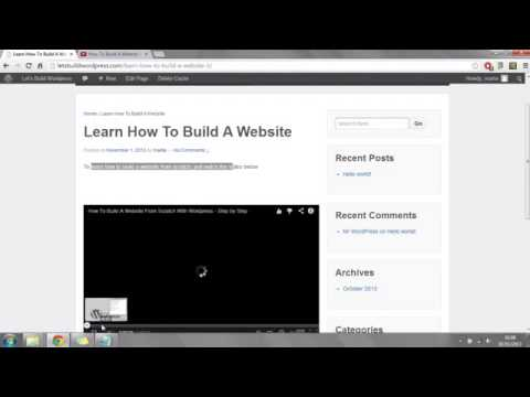 Step by Step Video Tutorial - Build your Own Website