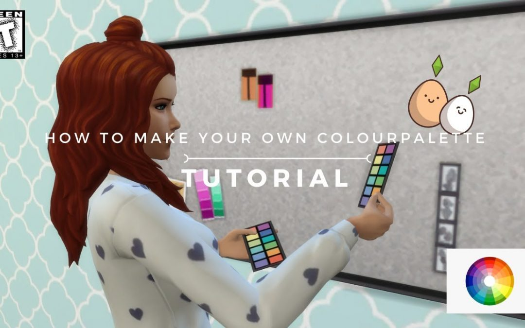 Tutorial | How to make your own colourpalette | Sims Interior Design
