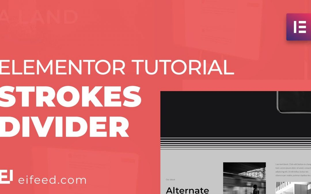 Upgrade your Design with this Animated Strokes Divider | Elementor Tutorial: