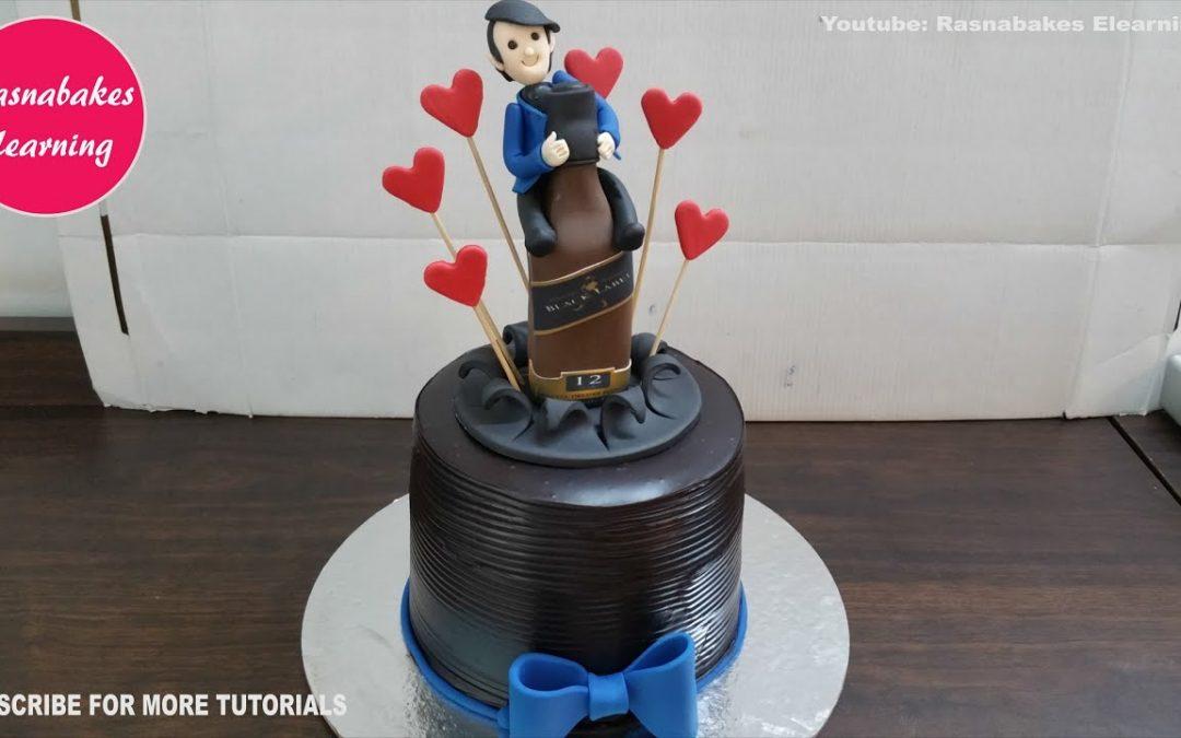 easy simple unique birthday chocolate cake decoration designing ideas for husband men boyfriend