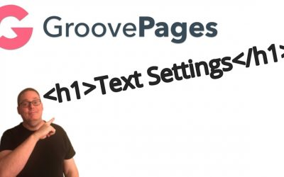 GroovePages Tutorial | How to Change Font Size Text Settings vs WordPress and Thrive Architect