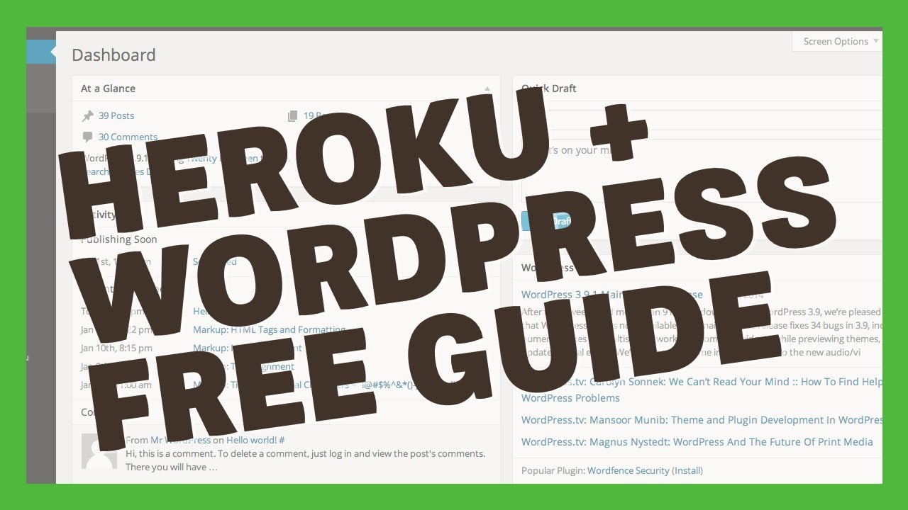 HEROKU + WORDPRESS = FREE