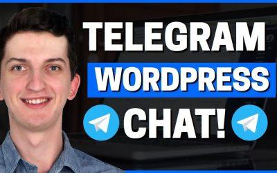 How To Add Telegram Chat To WordPress Website