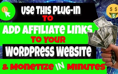 How to Add Affiliate Links to Your WordPress Website | Monetize with this Easy Plug-In✅💰