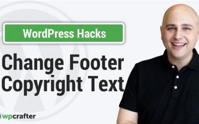 How to Edit Footer Copyright Text In Any WordPress Theme