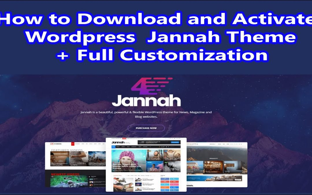 How to download and Activate WordPress Jannah Theme with Full Customization 2020