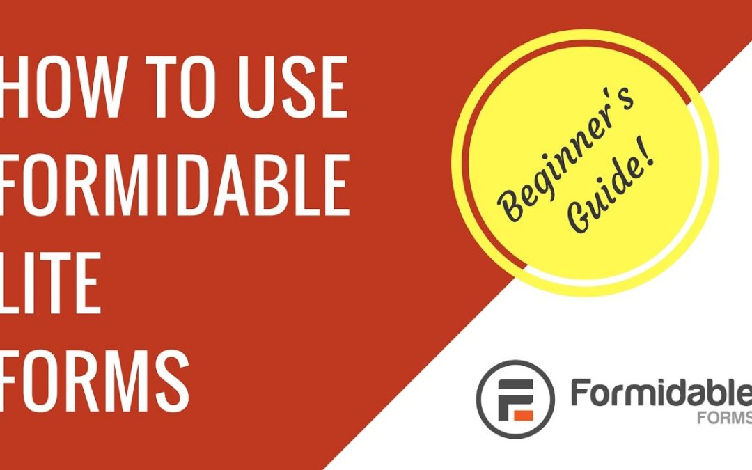 How to make a contact form with Formidable Forms Lite in WordPress | Beginner's guide