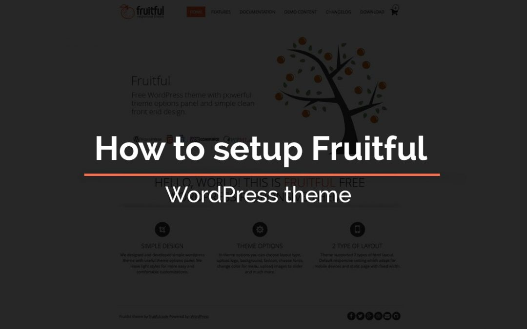 How to setup Fruitful - WordPress theme