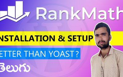 RankMath Setup & Installation in WordPress (Better than Yoast SEO) Telugu