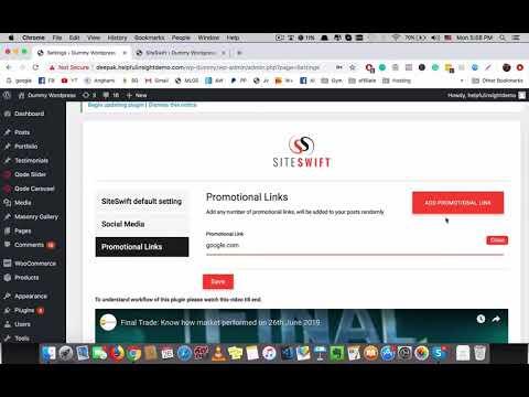 SiteSwift Review Demo   Automatic Content Generator WordPress Plugin