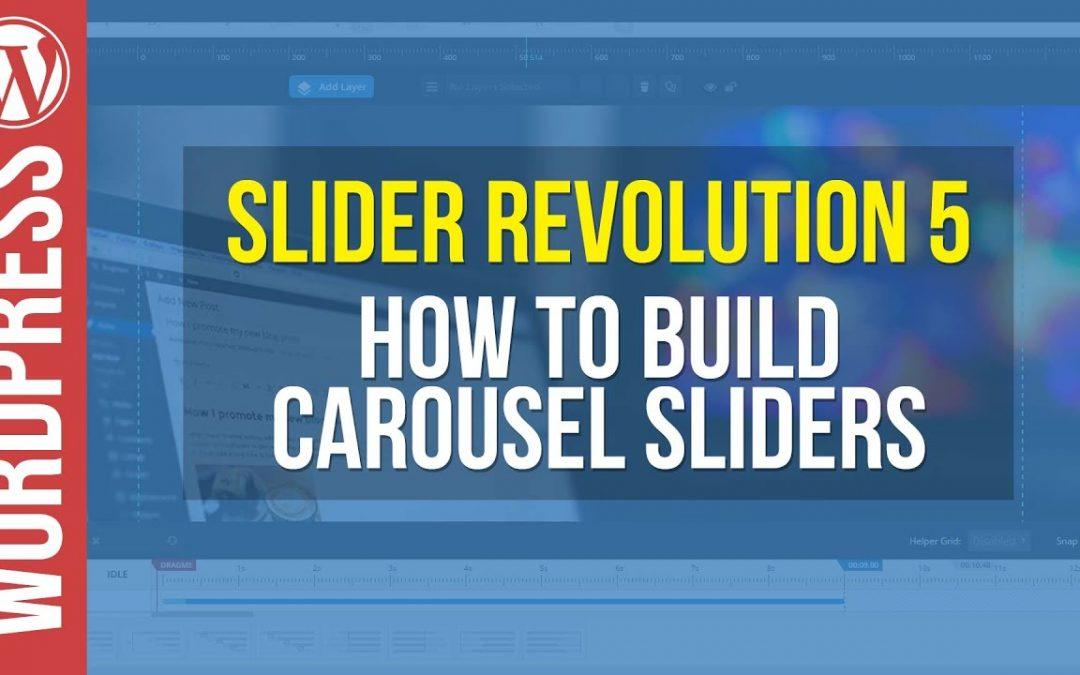 Slider Revolution 5 for Wordpress - Carousel Slider Tutorial