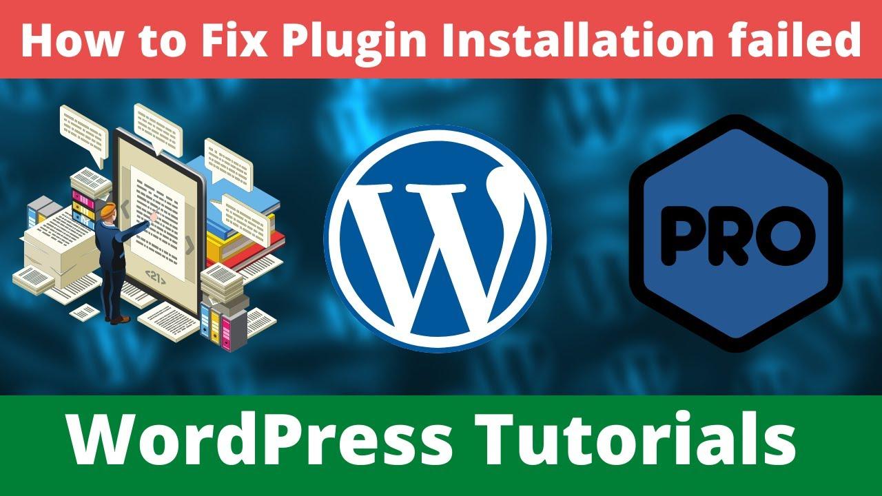 Solve WordPress Plugin Installation Error Occurring on Localhost | Fix Plugin Installation failed