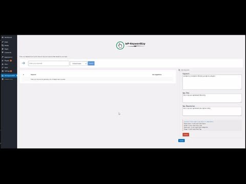 WP Keyword Ezy Review Demo - Best WordPress SEO Keyword Research Plugin