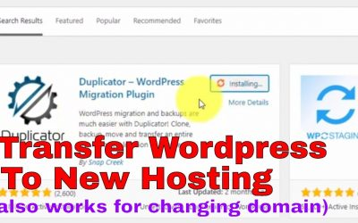 WordPress For Beginners – [2020] How to migrate/transfer an Entire WordPress website using Duplicator plugin to a new hosting
