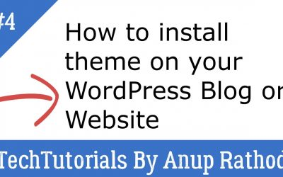 WordPress For Beginners – 4. How to install theme to WordPress Blog or Website in cpanel | WordPress Tutorial Beginners