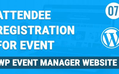 WordPress For Beginners – Attendee Registration on Event Management Website in WordPress in Hindi | vishAcademy