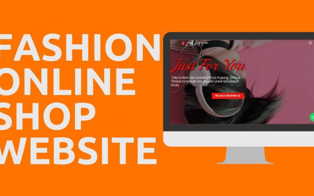 Fashion Online Shop Website 2020 | Tutorial WordPress for Beginners