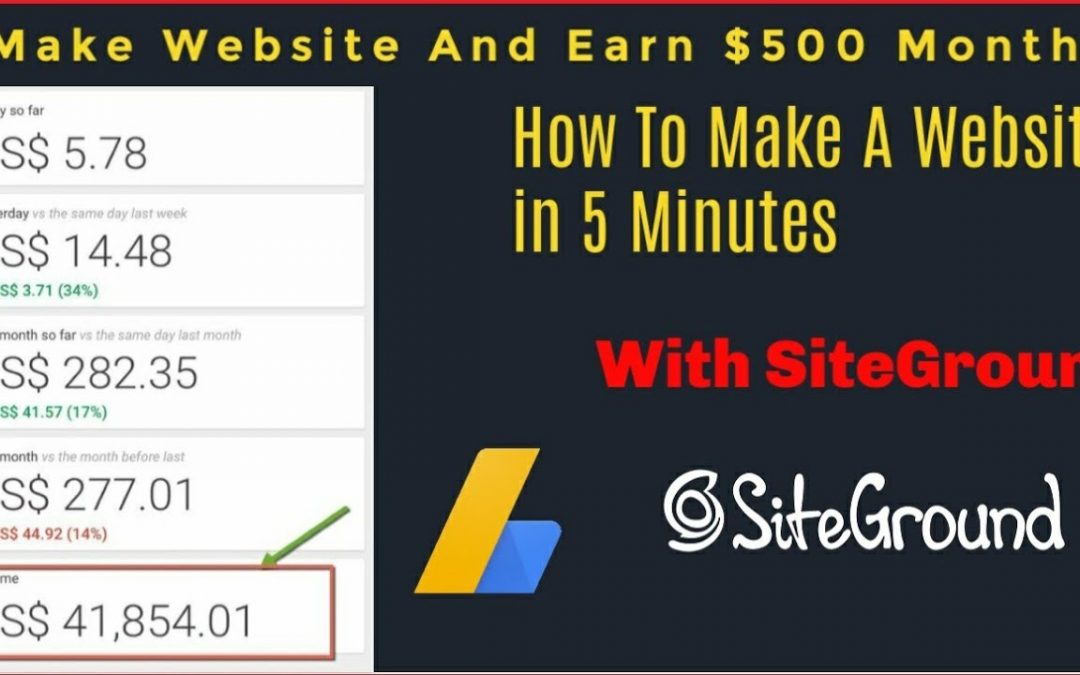 How To Make A Free Website in 5 Minutes with Siteground