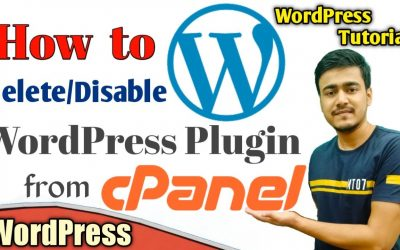 WordPress For Beginners – How to Uninstall/Disable/Delete Plugins from Cpanel | Unable to Access WordPress Dashboard Solution