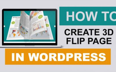 WordPress For Beginners – How to create a realistic 3D WordPress flip page in less than 10 seconds | WordPress Tutorial