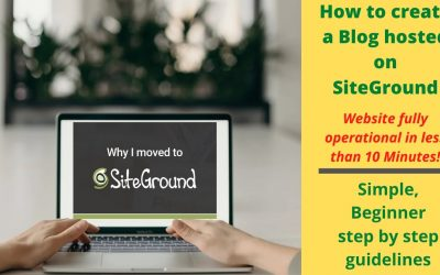 WordPress For Beginners – How to create blog in minutes using SiteGround Web Hosting and WordPress in 2020