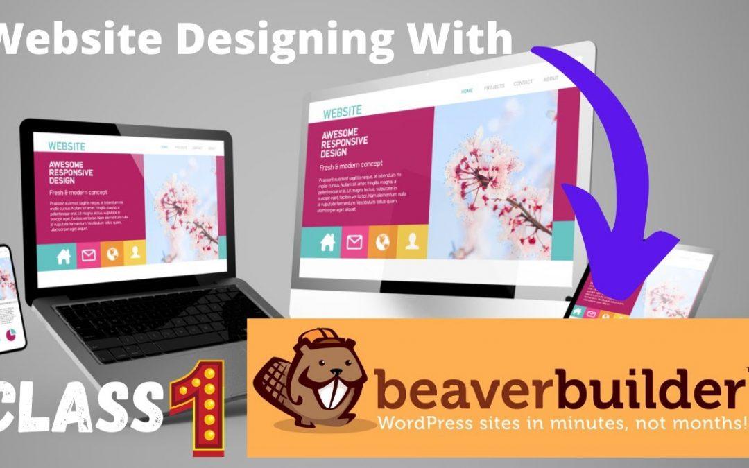 beaver builder tutorial 01 |How to create a website