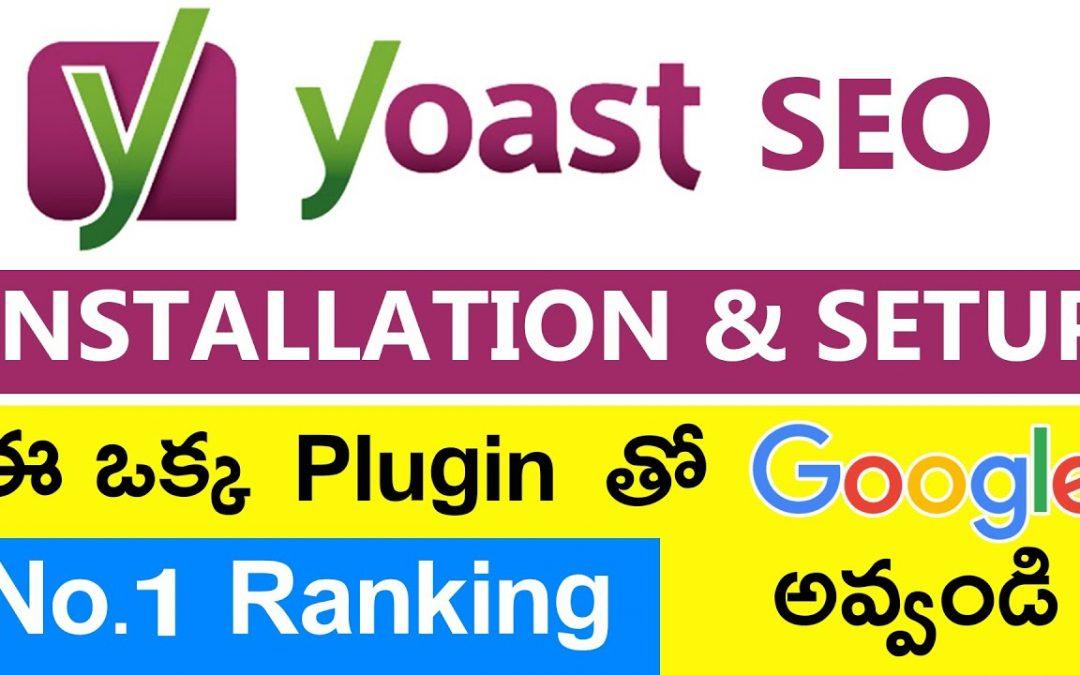 Yoast SEO Tutorial - Installation & Setup (Important Settings) Telugu