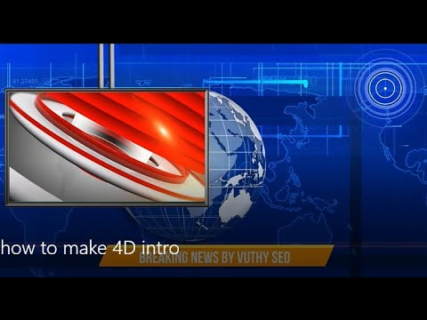 4D Breaking news intro - News intro 3D animation