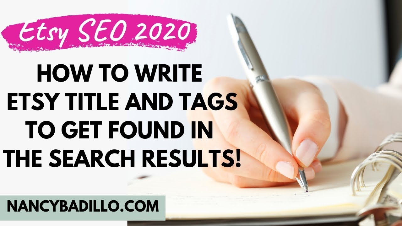 Etsy SEO 2020 - How To Write Etsy Title and Tags To Get Found In Search Results
