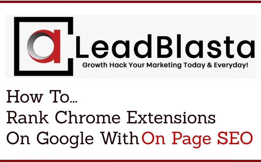 search engine optimization tips – How To Rank Chrome Extensions On Google With On Page SEO