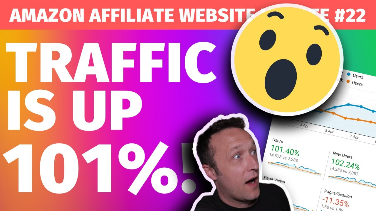 TRAFFIC IS UP 101% ! - [Affiliate Marketing Website Update #22]