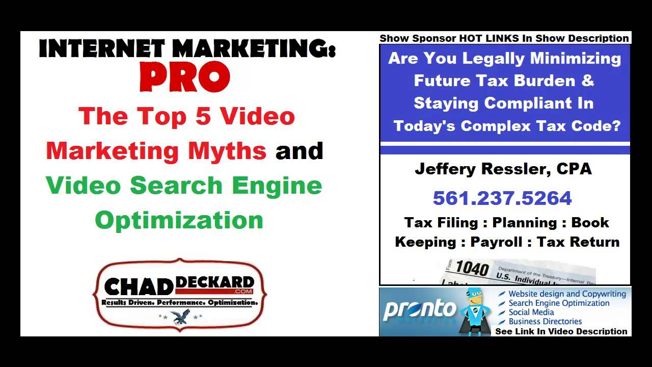 Video Marketing Myths and Video Search Engine Optimization : Internet Marketing : PRO