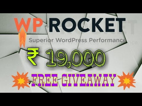 wp rocket review | free giveaway | Get free tool | A must tool for wordpress users| free wp rocket