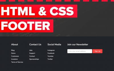 Do It Yourself – Tutorials – How to Make a Footer in HTML and CSS for Beginners Tutorial – Fully Responsive