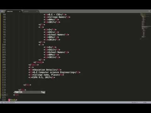 Own web profile creation   part 6