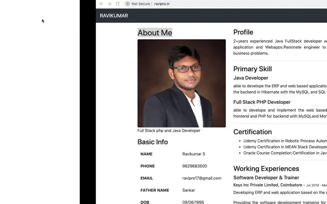 Own web profile creation   part 3