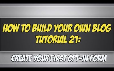 Do It Yourself – Tutorials – How To Build Your Own Blog Tutorial 21: Create A Web Form