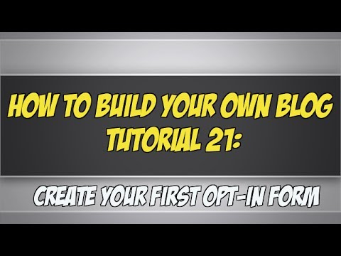 How To Build Your Own Blog Tutorial 21: Create A Web Form