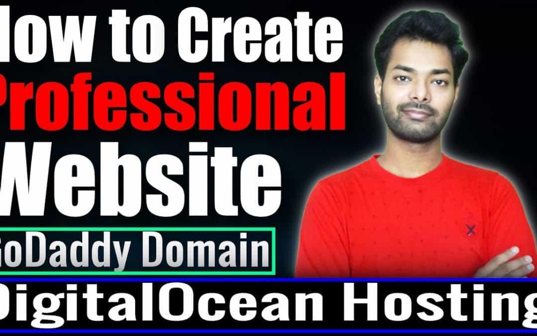 How to create a professional website   Host website on DigitalOcean   Buy GoDaddy & Bigrock  Domain