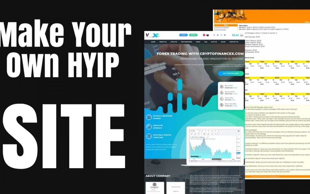 How To Make An HYIP Site | Build Your Own HYIP Site | HYIP Scrip For Sale | HYIP Site Tutorial