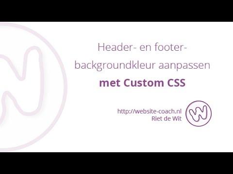 Header- en footer-backgroundkleur aanpassen met Custom CSS