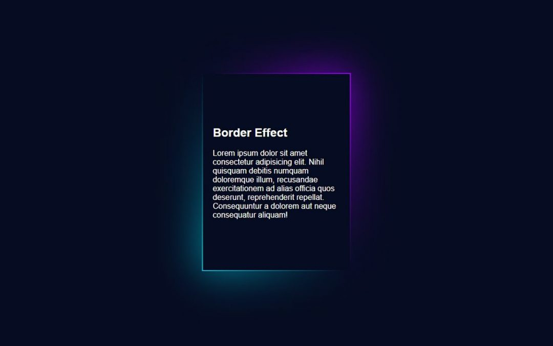 Border Gradient Effect for Your Website | HTML & CSS | [Coly💜 Developer Code]